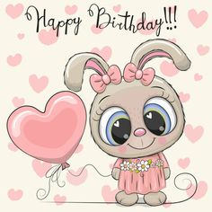 Cute Cartoon Pictures, Cute Cartoon Girl, Cute Cartoon Animals, Baby Cartoon, Cartoon Rabbit, Cartoon Cow, Happy Birthday Wishes Sister, Happy Birthday To Us, Happy Birthday Quotes