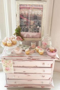 Shabby Paris Buffet by Cynthia's Cottage Miniatures. Love, love, LOVE her work!!