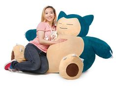 There's nowhere better to relax after a long day of work, school, or just being out and about than on your Pokémon Snorlax Bean Bag Chair. At 4 feet tall and over 2 feet across, this (s)lumbering Pokémon is perfect for your dorm room.