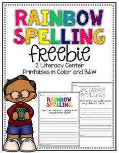 This literacy center makes spelling fun for students in Pre-K through Grade 2.Students can use vocabulary words for the week or words from their word wall to spell their words by using different color crayons.Just Print! :) More fun B2S products below!!