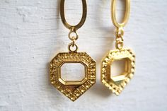 Gold Long Earringsdangle earrings gold geometric by sharontasker, $38.00