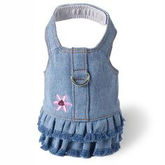 Denim Flower Harness DressI think the girls would be more comfy in something like this than a dressy dress