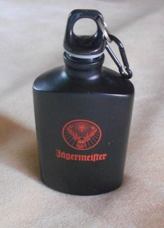 Jagermeister Flask Bottle by VintageVarietyFinds on Etsy