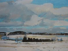 Archival Print of Landscape Painting 8.5 x 11 Snow by Paintbox, $20.00, paintbox.etsy.com