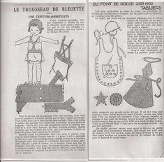 PAR AMOUR DES POUPEES :: Bleuette : ceinture jarretelle 1935 5/01 + petit pantalon 1934 20/12 + chemise 1934 6/12