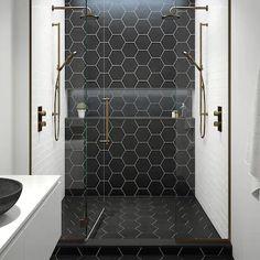 inspiration for hexagon tiles in the bathroom - Eigen Huis en Tuin,