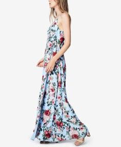 Fame and Partners Floral-Print Maxi Gown - Sky Bloom 22