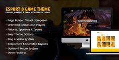 eSport WordPress Theme – Overview Page Builder: Visual Composer – Visual Composer is an easy to use drag and drop page builder that will help you to create any layout you can imagine fast and eas...