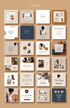 KAYLA is beautiful Instagram Marketing pack of Stories and Posts ideal for Small Businesses, Bloggers, Fashion, Lifestyle brands, Creatives and more, made in Canva, Photoshop, InDesign. 24 Posts and 24 Stories. #socialmediamarketing #instagrammarketing #instagramtemplate #instagramposts #instagramstories #canvatemplate #adobetemplate #smallbusiness #eshop #blogger Instagram Feed Ideas Posts, Instagram Feed Layout, Feeds Instagram, Instagram Grid, Instagram Post Template, Story Instagram, Followers Instagram, Instagram Games, Instagram Logo
