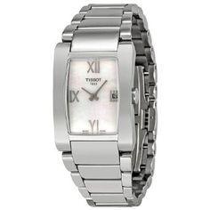 Tissot Womens T052.210.11.117.00 White Mother-Of-Pearl Dial Lady Round Watch