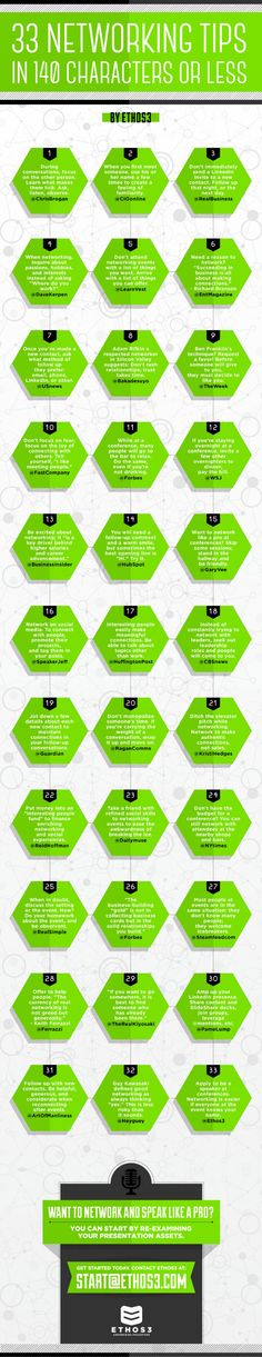 33 Networking Tips #infografía