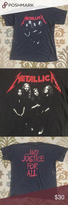 3f3feeb7c0270 Vintage Metallica Tee Throwback city! Unisex Vintage Metallica tee  purchased at the 1989 Damaged Justice