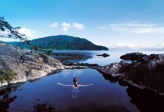 Gwaii Haanas NP, BC - Need to take the Ferry from Prince Rupert, BC.  Kids under 5 are free. - This is a pictures of hot springs on the island.