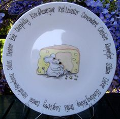 Commissioned Cheese Platter by Jean Colbear