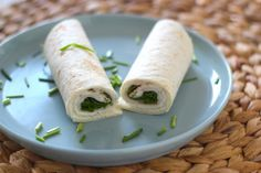 Lunchwrap met roomkaas, kipfilet en rucola - Lekker en Simpel