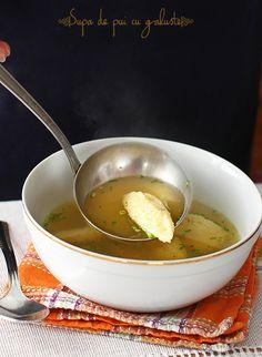 Supa de pui cu galuste, reteta nutritiva si savuroasa, cu galuste moi care nu se sfarama la fierbere, fara afanatori