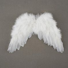 WHITE FEATHER ANGEL WINGS (Cupid) w/ elastic straps, Childrens Costume Accessory  My adorable handmade white feather angel wings have elastic