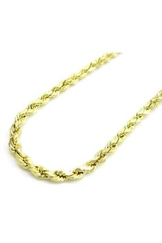 39ffe15940bc 10K Yellow Gold Solid Mens Women s Diamond Cut Rope Chain Necklace 2MM 16