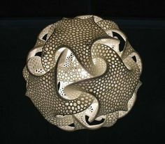 Dodecahedron lamp made by Bathsheba Grossman