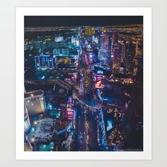 Las Vegas Strip at night Art Print