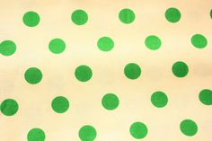 #ModaFabrics / Dottie / #Polkadot / Off White Green / 100% Premium Cotton / #Sewing #Crafting #Quilting #Patchwork / Half Metre by TwoChubbyRabbits on Etsy