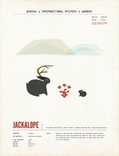 Jackalope Chidren's Wall Art - Limited Edition. $20.00, via Etsy.