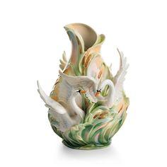 Franz Collection Swan Lake Vase