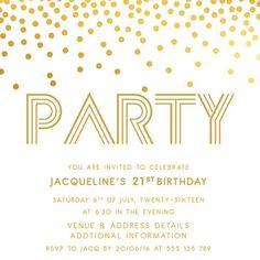 75th birthday invitations 50 gorgeous 75th party invites gold digital printable birthday invitation template 21st birthday invitations 30th birthday invitations 40th filmwisefo
