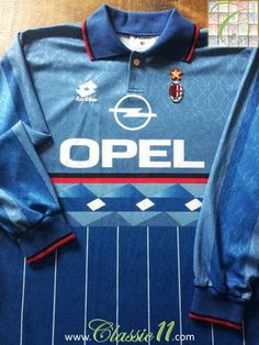Relive AC Milan's 1995/1996 season with this original Lotto 4th kit football shirt.