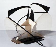 Naum Gabo, Construction in Space: Two Cones 1936, replica 1968