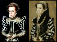 Fur strips to decorate these black Elizabethan gowns