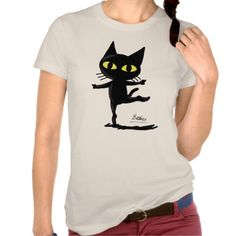 Dancing Cat T-Shirts by BATKEI
