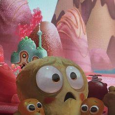 #tbt I painted a horrified popcorn kernel family for Wreck-it Ralph film! #art #disney #wreckitralph #sugarrush #disneyartist