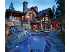 Log cabin is perfect for vacation homes by Log Cabin Homes Modern Design Ideas, second homes, or those who want to downsize into a smaller log home. Log cabin dimensions for Log Cabin Homes Modern Design Ideas of cheap and… Continue Reading → Modern Log Cabins, Architecture Résidentielle, Log Cabin Homes, Log Cabin Exterior, House Goals, Simple House, Ideal House, My Dream Home, Dream Homes
