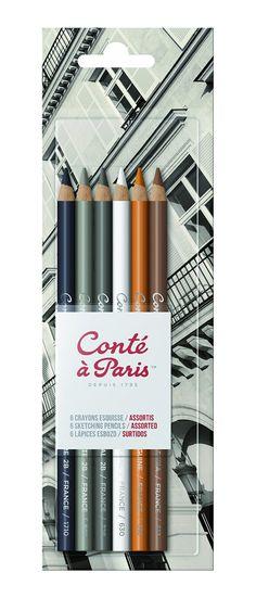Amazon.com: Conté à Paris 6-Count Sketching Pencils Set