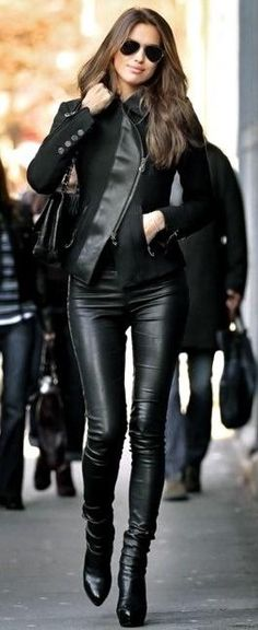 Chic leather for any weather