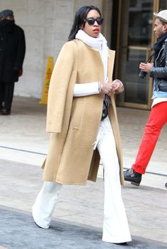 LOVE the pants. Really nicely put together. | They Are Wearing: New York Fashion Week - Slideshow - WWD.com