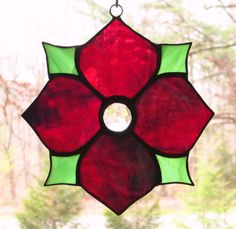 Stained Glass Suncatcher  Victorian Flower by CartersStainedGlass