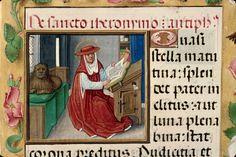 Trust a cat to find a soft spot in the sunlight. Medieval Furniture, St Jerome, Medieval Manuscript, Dark Ages, Roman Catholic, After Dark, Cardinals, Austria, Art