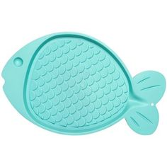 "Bella Spill-Proof Fish Shaped Cat Mat 19""""""""X12""""""""-Green"