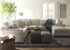 Functionalists can configure #Havertys Piedmont sectional for the greatest use of their space.