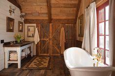 Ranch at Rock Creek - rustic - Bathroom - Other Metro - Superior Hardwoods of Montana