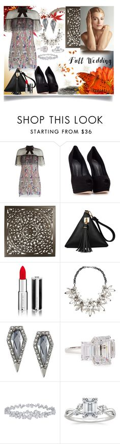 """Fall wedding"" by jeneric2015 ❤ liked on Polyvore featuring self-portrait, Giuseppe Zanotti, Givenchy, Religion Clothing, John Lewis, Rebecca Minkoff, Fantasia by DeSerio, Harry Winston and fallwedding"