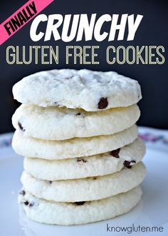 Light and crispy gluten free cookies that melt in your mouth. Made with cornstarch, butter, eggs and brown sugar. from knowgluten.me