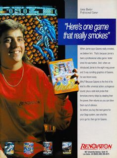 """""""Here's One Game That Really Smokes"""" Pc Engine, Old Commercials, Old Games, First Game, Sega Genesis, Super Mario, Videogames, Geek Stuff, Bunker"""