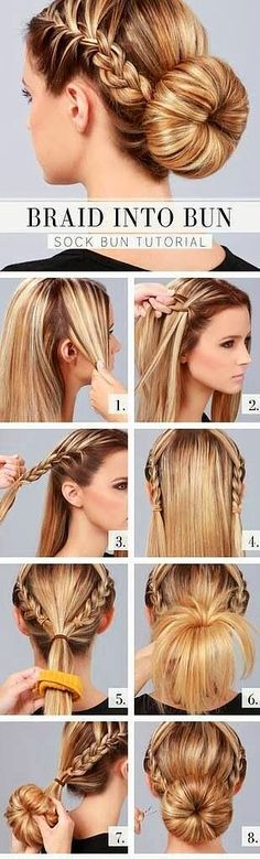 5.Braid İnto Bun