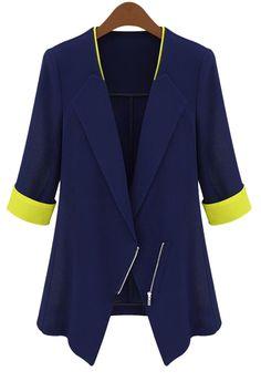 Half Sleeve Color Block Blazer
