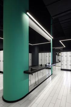 Gym Interior, Interior Decorating, Home Gym Design, Gym Room, Black Fitness, Club Design, Wellness Fitness, Layout, Behance