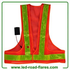 The led flashing safety vest provides great visibility in all conditions. Hi Vis Flashing Safety Vest. FLASHING or STEADY-ON. Reflective Models, Led Strobe, Safety Clothing, Red Led Lights, Plein Air, Flashlight, Rubber Rain Boots, Work Wear, Vest