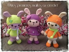sweet little bunnies - free pattern ( needs google to translate to english)